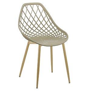 Cadeira Marine Nude Wood em PP