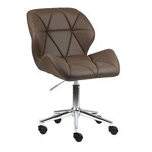 Cadeira Australia Castanho em PU Base Estrela Rodízio