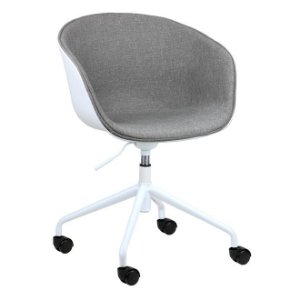 Cadeira Elegance Office Branco/Nude em PP/tecido