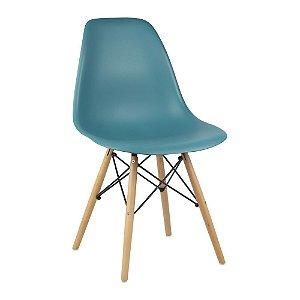 Cadeira Turquesa Charles Eames Wood Dsw em PP