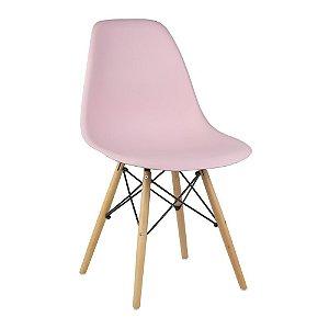 Cadeira Rosa Charles Eames Wood Dsw em PP