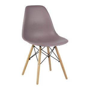 Cadeira Bordô Charles Eames Wood Dsw em PP