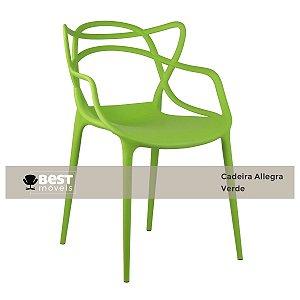Cadeira Masters Allegra Verde em Polipropileno