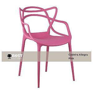Cadeira Masters Allegra Pink em Polipropileno