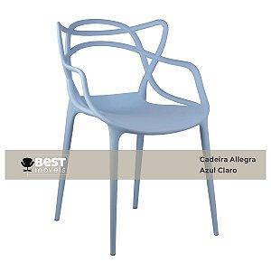 Cadeira Masters Allegra Azul Claro em Polipropileno