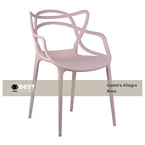 Cadeira Masters Allegra Rosa em Polipropileno