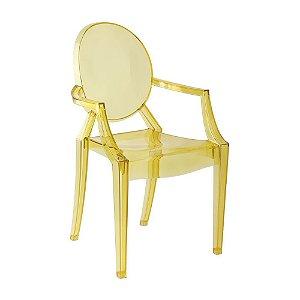 Cadeira Amarelo Translucido Louis Ghost em Policarbonato