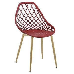 Cadeira Marine Vinho Wood em PP