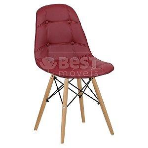 Cadeira Vinho Botonê Dsw Charles Eames em PU