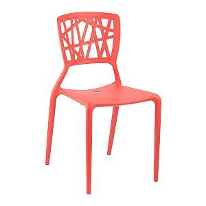 Cadeira Ipiranga Vermelha em Polipropileno