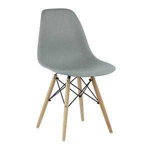 Cadeira Cinza Claro Charles Eames Wood Dsw em PP