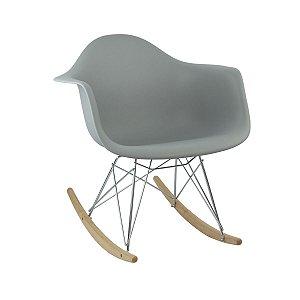 Cadeira Cinza Claro Charles Eames Balanço DAR em PP