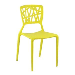 Cadeira Ipiranga Amarela em Polipropileno