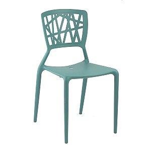 Cadeira Ipiranga Turquesa em Polipropileno