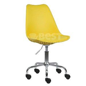 Cadeira Amarela New Soft Office em PP/PU