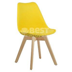Cadeira Amarela Charles Eames Style Soft em PP/PU