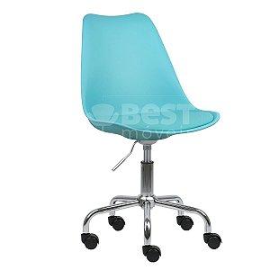 Cadeira Azul Tiffany New Soft Office em PP/PU