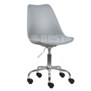 Cadeira Cinza Claro New Soft Office em PP/PU