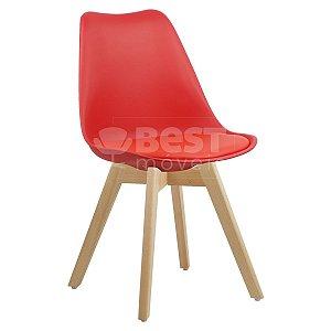 Cadeira Vermelha Charles Eames Style Soft em PP/PU