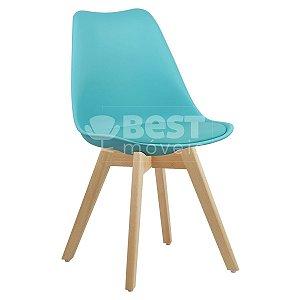Cadeira Azul Tiffany Charles Eames Style Soft em PP/PU