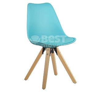 Cadeira Azul Tiffany Charles Eames Modern Soft em PP/PU