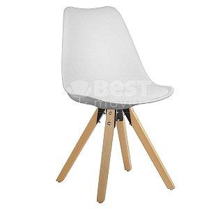 Cadeira Branca Charles Eames Modern Soft em PP/PU