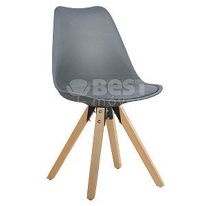 Cadeira Cinza Escuro Charles Eames Modern Soft em PP/PU