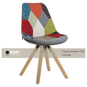 Cadeira Colorida Charles Eames Modern Soft em PP/PU