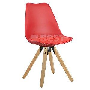 Cadeira Vermelha Charles Eames Modern Soft em PP/PU