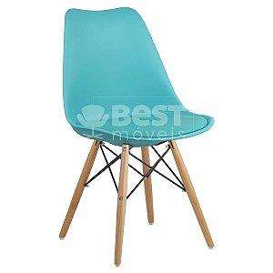Cadeira Azul Tiffany Charles Eames Dsw Soft em PP/PU