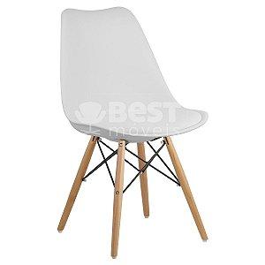 Cadeira Branca Charles Eames Dsw Soft em PP/PU