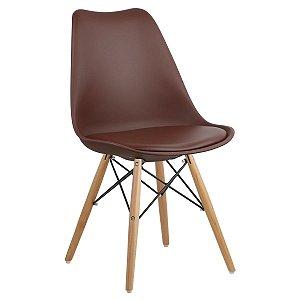 Cadeira Café Charles Eames Dsw Soft em PP/PU