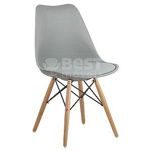Cadeira Cinza Claro Charles Eames Dsw Soft em PP/PU