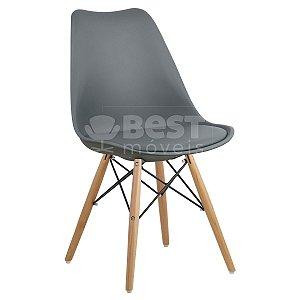 Cadeira Cinza Escuro Charles Eames Dsw Soft em PP/PU