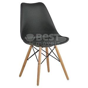 Cadeira Preta Charles Eames Dsw Soft em PP/PU
