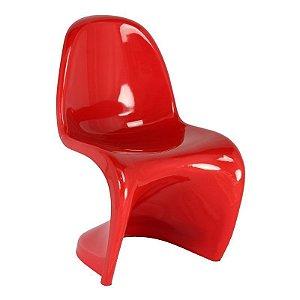 Cadeira Panton Vermelha em Abs