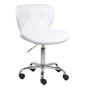 Cadeira Espanha Branco Base Rodízio
