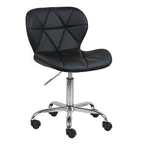Cadeira Espanha Preta em PU