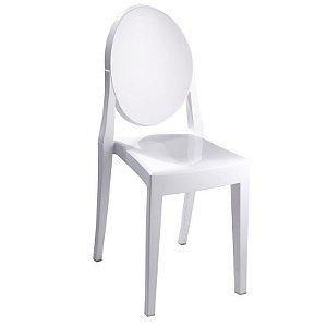 Cadeira Branco Sólido Victoria Ghost em Policarbonato