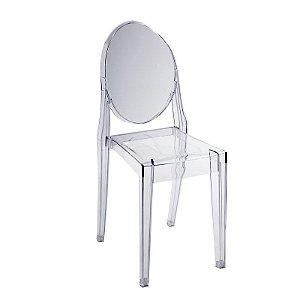 Cadeira Incolor Victoria Ghost em Policarbonato