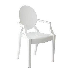 Cadeira Branco Sólido Louis Ghost em Policarbonato