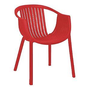 Cadeira Anhembi Vermelha em PP