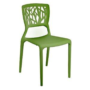 Cadeira Ipiranga Verde em Polipropileno