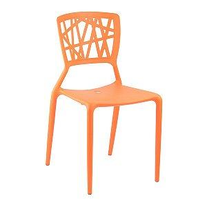 Cadeira Ipiranga Laranja em Polipropileno