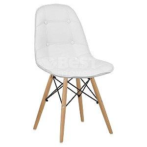 Cadeira Branca Botonê Dsw Charles Eames em PU