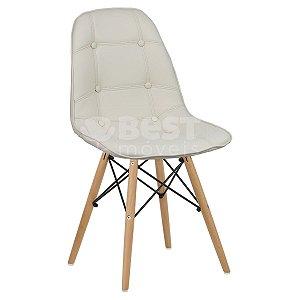 Cadeira Creme Botonê Dsw Charles Eames em PU