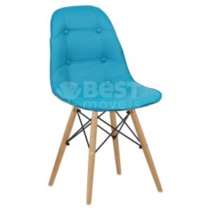 Cadeira Turquesa Botonê Dsw Charles Eames em PU