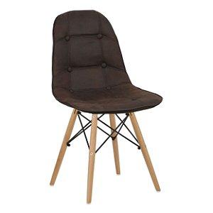 Cadeira Café Botonê Dsw Charles Eames em PU Cowboy