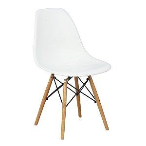 Cadeira Branca Charles Eames Wood Dsw em PP