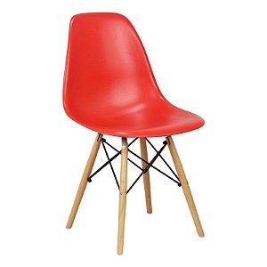 Cadeira Vermelha Charles Eames Wood Dsw em PP